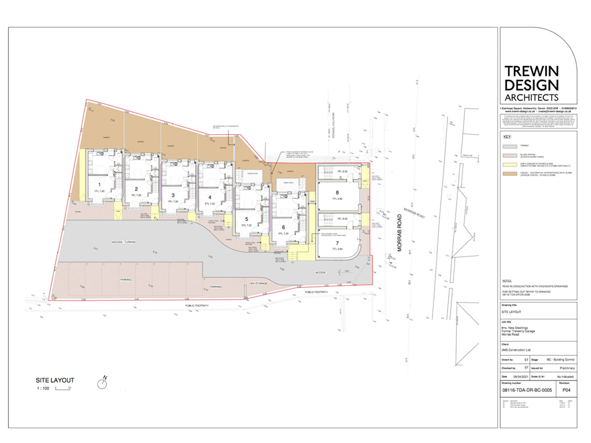 Brighton Terrace Site Layout 2 Aug 2021